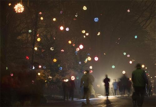 Lighted Christmas Balls in My Neighborhood | Karen McCullough