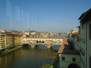 The Ponte Vecchio as seen from the Uffizi.
